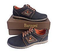 Кожаные мужские спортивные туфли Barzoni 8 коричневые