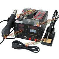 Saike 909d 220В 3в1 тепла пневматический пистолет паяльник паяльная станция