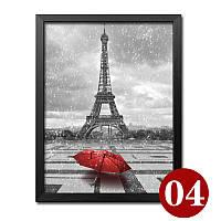 """Картина для рисования камнями Diamond painting Алмазная вышивка """"Париж и красный зонт"""", фото 1"""