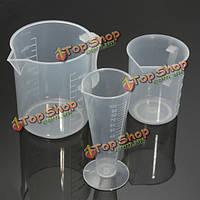 3шт пластик Мерный стакан контейнер установлен стакан кухню готовить инструмент