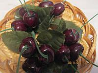 Декор ПЛЕТЕНОЕ блюдце черешня ягоды вишня пластик СУВЕНИР УКРАШЕНИЕ как живые