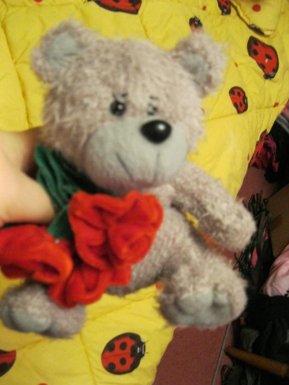 Мягкая игрушка мишка миша медведь цветы фирменный