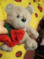 Мягкая игрушка мишка миша медведь цветы фирменный, фото 1