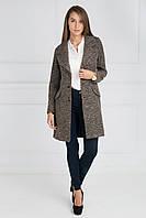 Шикарное осенне пальто с красивым широким воротником