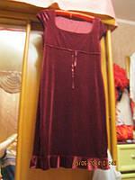 Платье вишневое бархат р 46-48 DOROTHY PERKINS