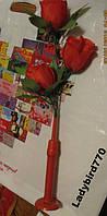 СВЕТИЛЬНИК сувенир красная роза настольная