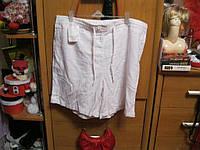шорты лен белые 16 L 50 КАК НОВЫЕ женские