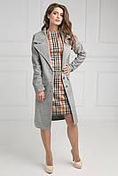 Стильное молодежное пальто с широким воротником отложным