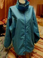 Ветровка куртка женская голубая xxl  52-54  20 легкая