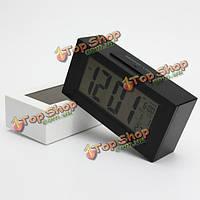 Большой ЖК-дисплей цифровой будильник термометр часы LED подсветка