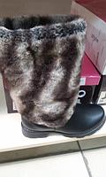 Сапоги женские угги мех зимние черные 36р новые шик