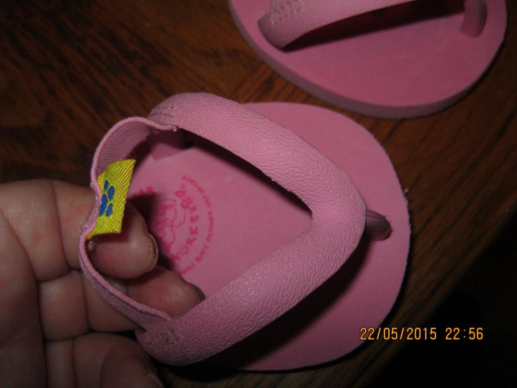 Тапки на медведя BUILD-A-BEAR обувь кукла одежда