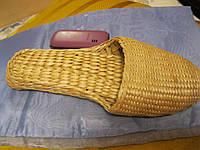 Лапоть тапок декор плетеный ручная работа купила в деревне на Кипре просто сувенир на стену