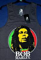 Футболка майка PRIMARK фанату Боб Марли ВОВ Marley 44 S хлопок серая