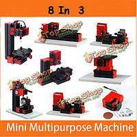8 в 3 моторизованные мини-машины джиг-пилу мясорубки бурильщик дерево металл станок