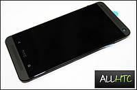 Дисплей HTC One M7 801e, черный, с тачскрин,РАМКА