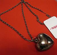 Цепочка кулон бусы ожерелье сердце стильное цепь