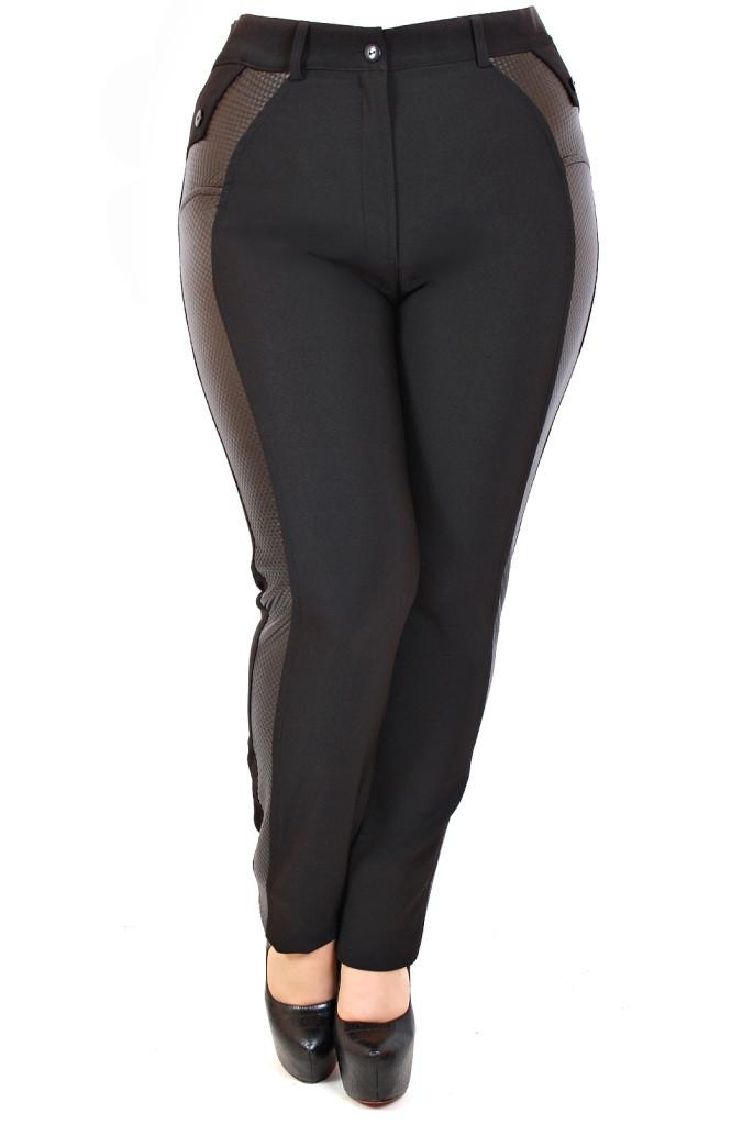 Женские брюки Лампас кожа