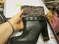 Сапоги ботинки ботильоны женские серые зимние 38.5