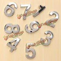 Серебряный дом номер численное табличка на дверях цифры дверь номерными знаками