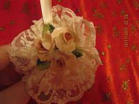 Декор! украшение сувенир фигурка старая вещь розы кружево металл ГЕРМАНИЯ