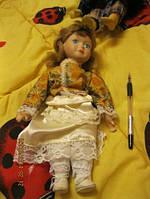 Кукла фарфоровая девочка старая привезли из ГЕРМАНИИ целая коллекционная