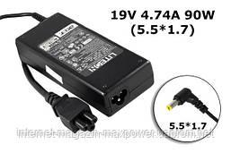 Блок живлення для ноутбука Acer 19v 4.74 a 90w (5.5/1.7) ADP-90SB BB, PA-1900-05, PA-1900-04, PA-1900-24