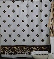 Шторка для ванной комнаты на тканевой основе 180Х200 см