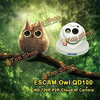 ESCAM qd100 720p IP сетевая камера ночного видения обнаружения движения камеры поддержка ONVIF ИК-p2p ИК