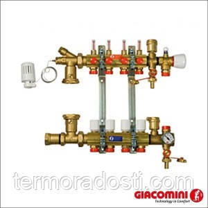Коллектор Giacomini (R557FY006) 6 выходов с расходомерами (гребенка теплого пола)