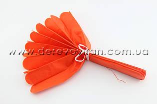 Помпон из тишью, оранжевый, 20 см