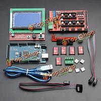 LCD 12864 пандусы 1.4 борту 2560 R3 на плате управления a4988 драйвер набора для 3D принтера