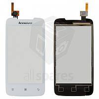 Сенсорный экран телефона Lenovo A390 белый