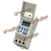 Постоянного тока 12В DIN-рейку ЖК-дисплей программируемый Таймер реле времени переключатель