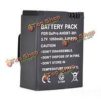 1050 мАч ahdbt-301 аккумулятор для GoPro Hero 3/3+ аккумуляторная батарея