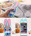 Чехол силиконовый Zootopia Rabbit Judy City 3D Cartoon для iPhone 6 plus плюс, фото 3
