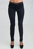 Модные молодежные брюки заужены к низу с поясом на талии принт мелкий горох