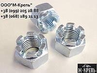 Гайка М30 ГОСТ 5918-70, DIN 935, прорезная и корончатая из нержавейки А2 и А4