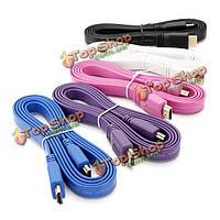 1.5мв1.4 плоский кабель HDMI для BluRay 3D на DVD-диск пс3 ТВЧ для Xbox 360