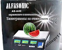 Весы торговые электронные Alfasonic AS-A40 до 40кг