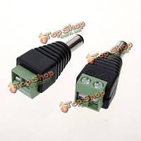 2шт 5.5 х 2.1мм постоянного тока мужской штекер разъем для CCTV камеры