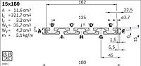 Станочный Алюминиевый профиль Bosch REXROTH 15х180