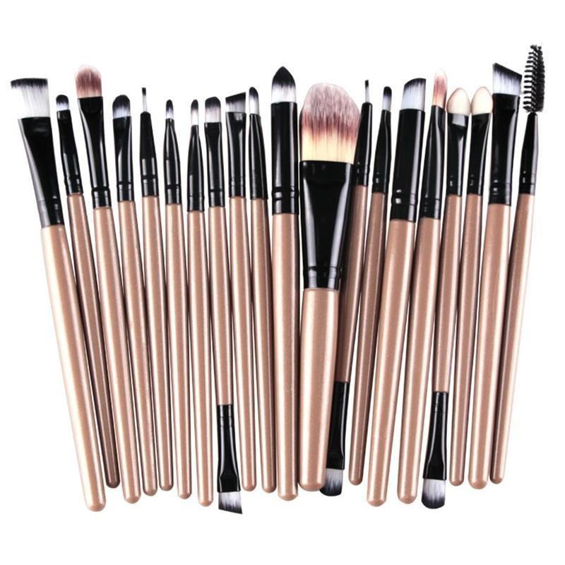 Кисти для макияжа набор из 20 шт (4 расцветки)