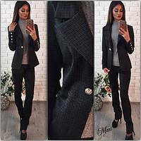 Костюм деловой пиджак с отложным воротником и брюки 3 расцветки 2 Dmil04