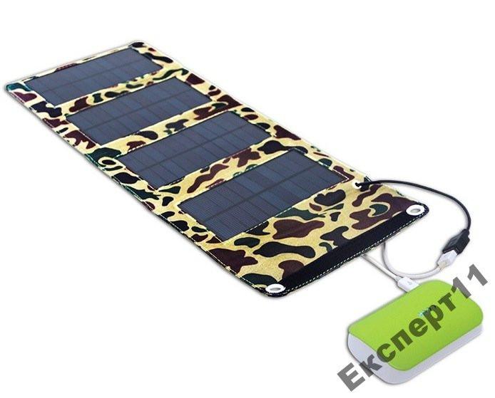 Солнечная батарея панель зарядка 5,5 В 7 Вт c USB