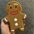 3D Cartoon Gingerbread Man Cookie Biscuit Soft Silicone для iPhone 6/6S, фото 3