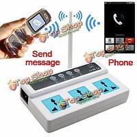 Сотовый телефон GSM дистанционного управления 3 розетки умная розетка выключатель питания
