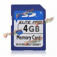 4Гб с 4G памяти SD ХК Secure цифровых высокой скорости флеш карты памяти для фотоаппарата