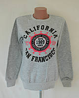"""Толстовка теплая на байке """"Калифорния""""- серый"""