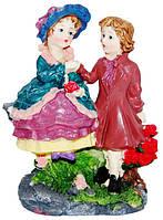 Статуэтка девочка с мальчиком цветные на полку 130х155х80